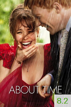 Poster for About Time with an average rating of 8.2.