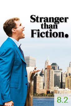 Poster for Stranger Than Fiction with an average rating of 8.2.