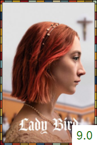 Poster for Lady Bird with an average rating of 9.0.