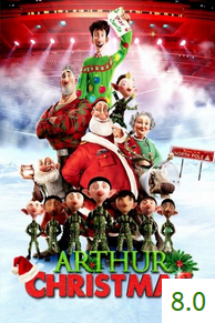 Poster for Arthur Christmas with an average rating of 8.0.
