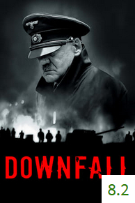Poster for Downfall with an average rating of 7.7.