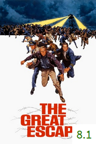 Poster for The Great Escape with an average rating of 7.6.