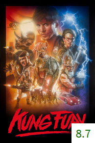 Poster for Kung Fury with an average rating of 8.7.