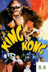 Poster for King Kong with an average rating of 8.4.