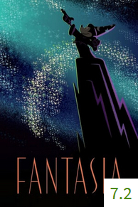 Poster for Fantasia with an average rating of 7.3.