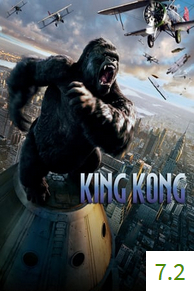 Poster for King Kong with an average rating of 7.2.