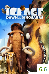 Poster for Ice Age: Dawn of the Dinosaurs with an average rating of 6.6.