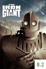 Poster for The Iron Giant with an average rating of 8.2.
