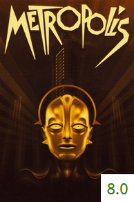 Poster for Metropolis with an average rating of 8.0.