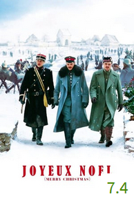 Poster for Joyeux Noël with an average rating of 7.4.