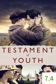 Poster for Testament of Youth with an average rating of 7.4.