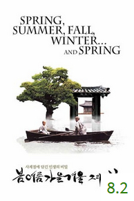 Poster for Spring, Summer, Fall, Winter... and Spring with an average rating of 8.2.