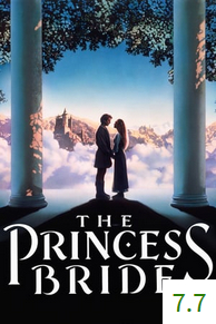 Poster for The Princess Bride with an average rating of 7.7.