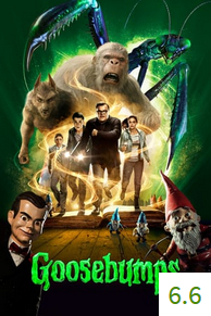 Poster for Goosebumps with an average rating of 6.6.