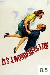 Poster for It's a Wonderful Life with an average rating of 8.5.