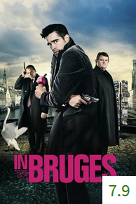Poster for In Bruges with an average rating of 7.9.