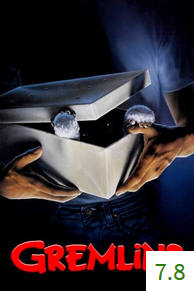 Poster for Gremlins with an average rating of 7.8.